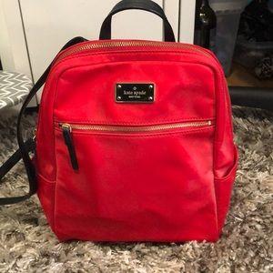 Red Kate Spade backpack
